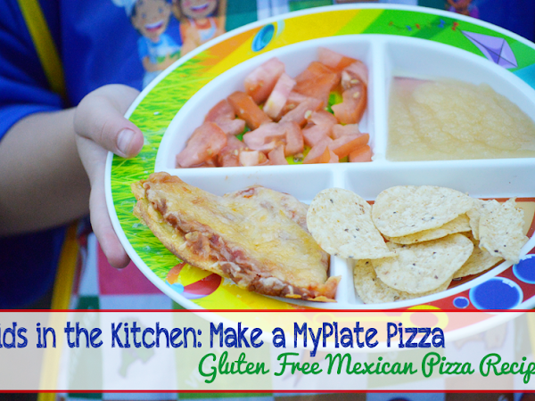 Kids in the Kitchen: Make a MyPlate Pizza {An Easy Gluten-Free Mexican Style Pizza Recipe} #MyPlatePizza