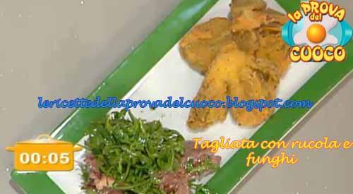 Tagliata con rucola e funghi ricetta ivano riccobono da for Cucinare entrecote