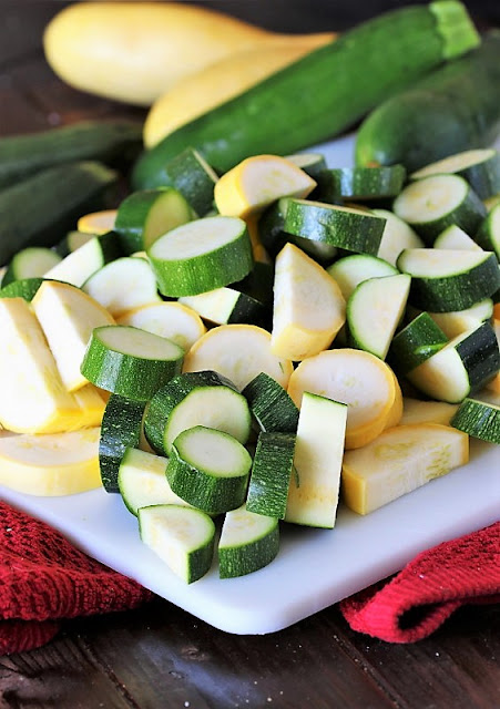 Chopped Zucchini & Summer Squash Image