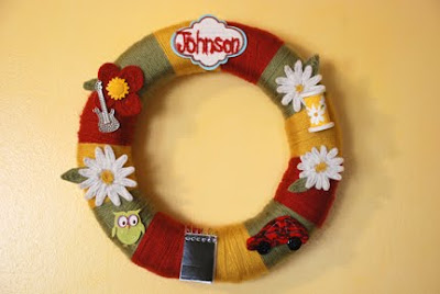 wreath with favorite things