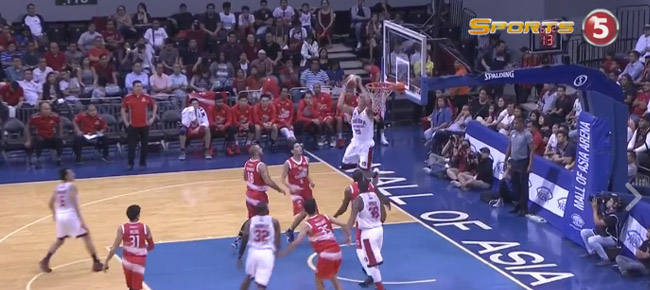 Japeth Aguilar with the NASTY Alley-oop Slam vs Phoenix (VIDEO)