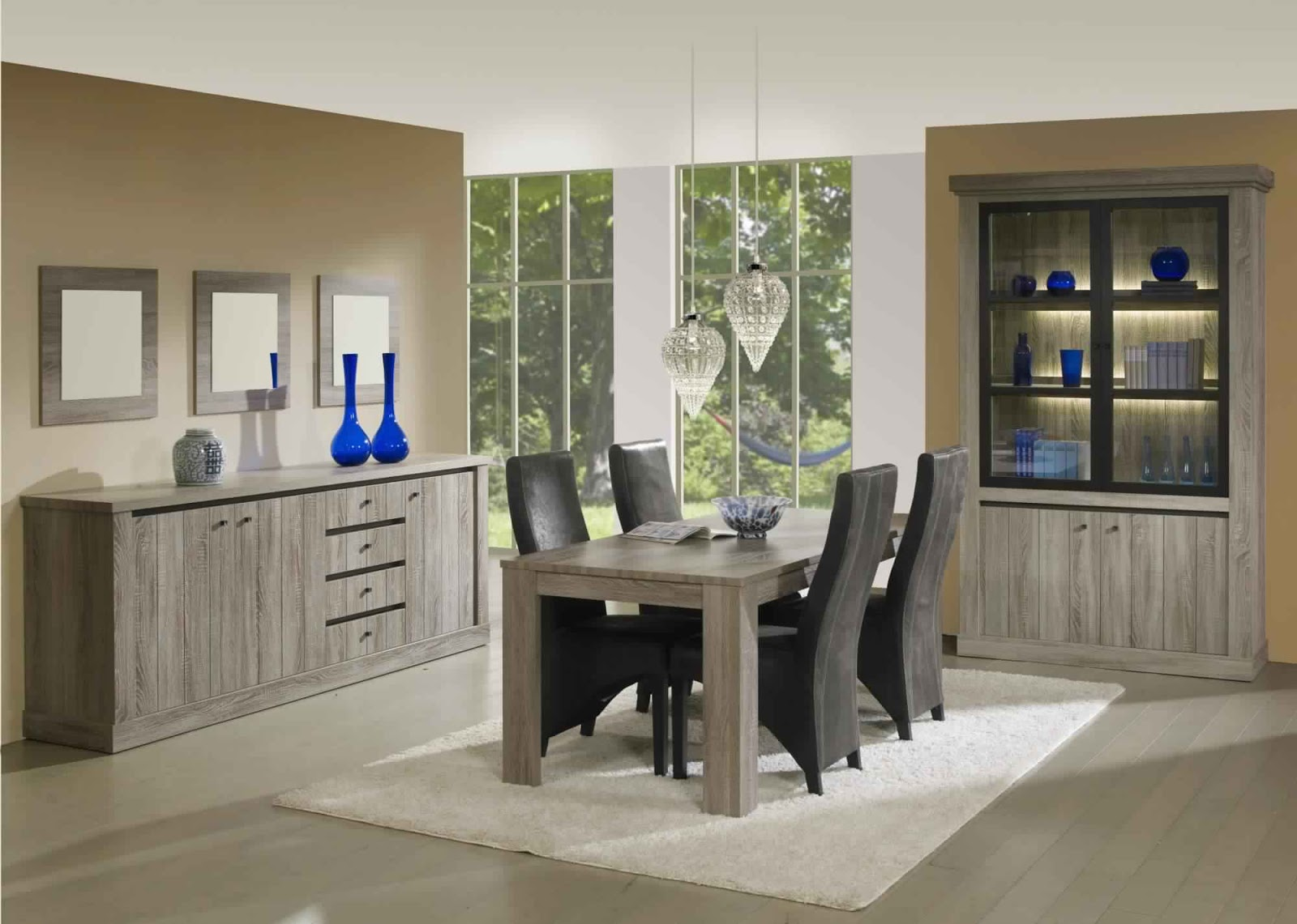 nice salle a manger complete but 7 salle manger compl te contemporaine coloris ch ne mara. Black Bedroom Furniture Sets. Home Design Ideas