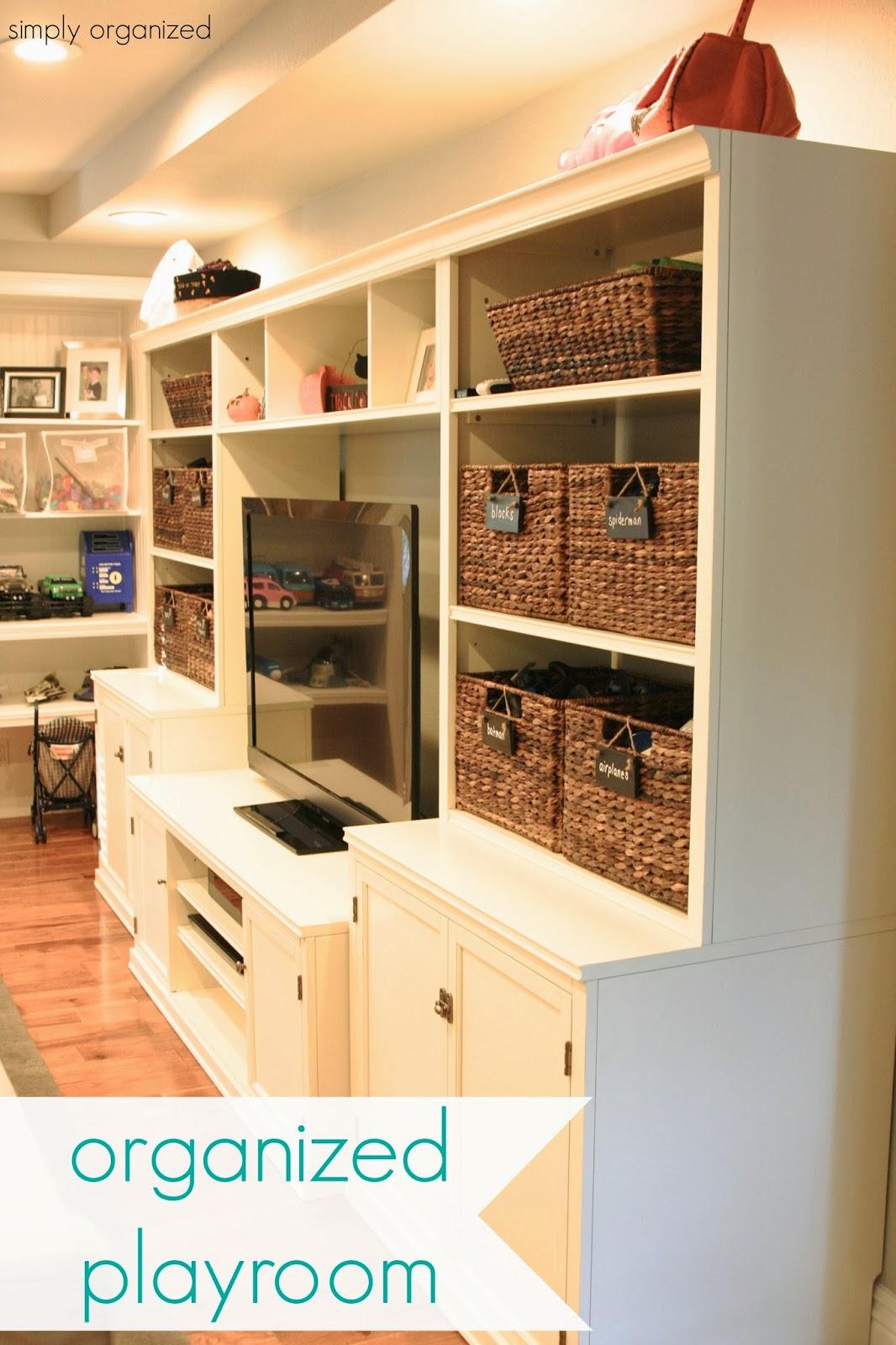 Playroom: Organized Playroom
