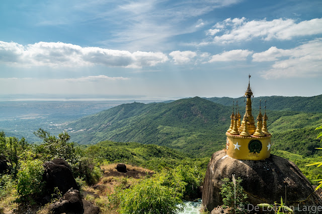 Panorama - Nwa la bo - rocher d or - Mawlamyine