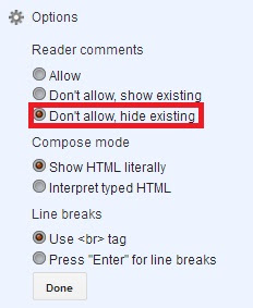 Cara Untuk Menghilangkan Komentar Blog