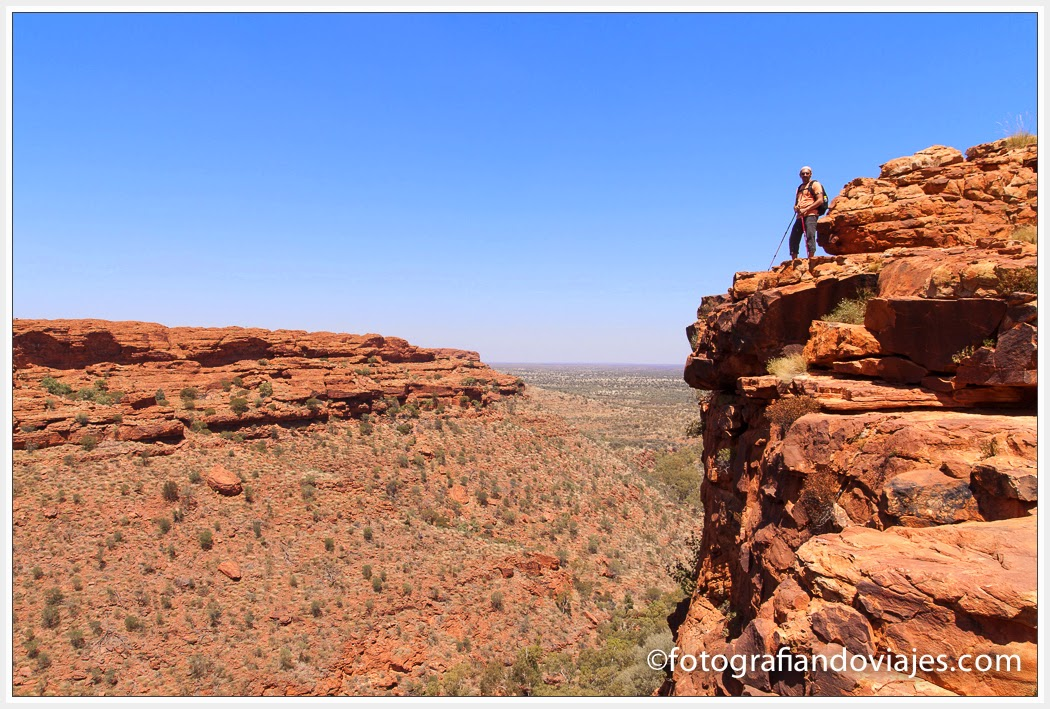 Rim walk en Kings Canyon en Australia