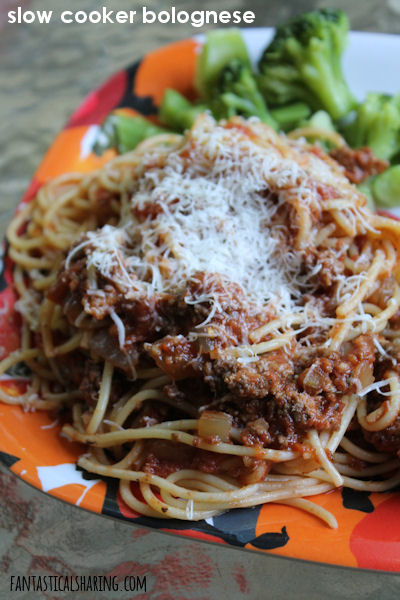 If you want to jazz up spaghetti night, this Slow Cooker Bolognese is the perfect way to make a fancy meal out of regular spaghetti. #recipe #crockpot #slowcooker #beef #wine #cabernetsauvignon #pasta