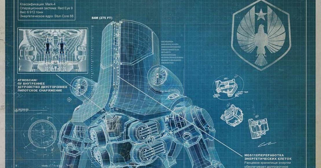 CELLULOID AND CIGARETTE BURNS: Blueprints For PACIFIC RIM ... Pacific Rim Jaeger Gypsy Danger Blueprint