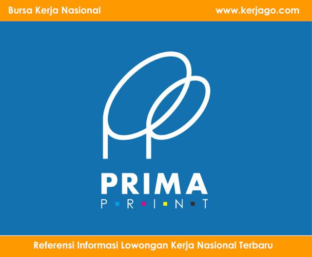 Info Lowongan Kerja di Prima Print (Lulusan SMA/SMK/Setara)