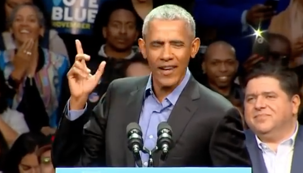 Obama closes out campaign by talking about himself 89 times during Chicago appearance