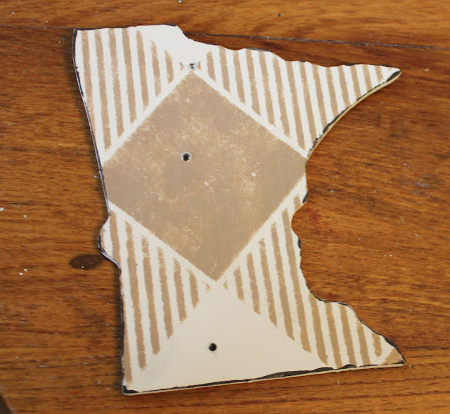 Minnesota Floor Puzzle Piece Re Purposed As A Christmas