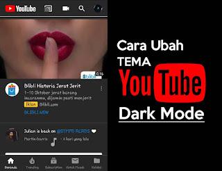 Cara Mengubah tampilan Youtube menjadi hitam