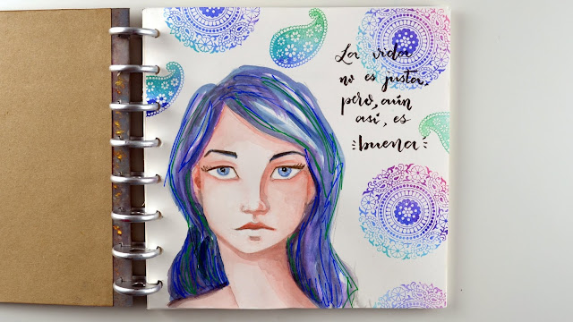 art journal watercolor acuarela
