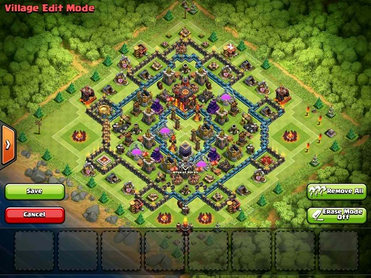 Clash of clans town hall 10 trophy push war base anti golem anti