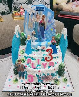 Kue Tart Ulang Tahun Frozen Elsa Anna Olaf