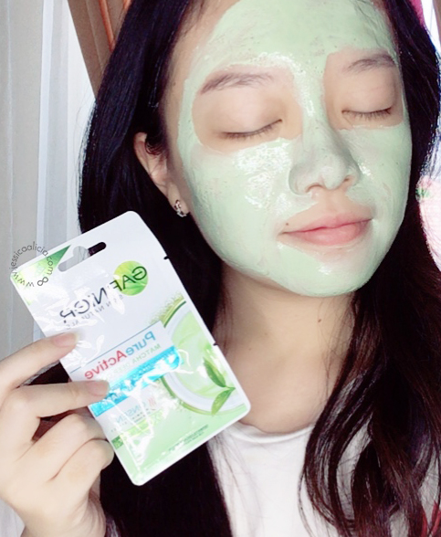 Review : Garnier Pure Active Matcha Facial Foam & Clay Mask by Jessica Alicia