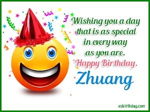 Happy Birthday Zhuang