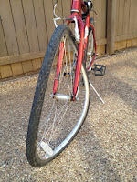 bent bicycle rim and wheel
