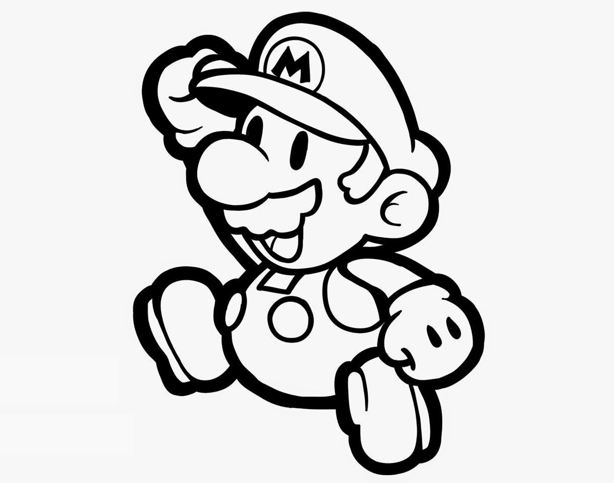 Colour Drawing Free Wallpaper Super Mario Bros Coloring Drawing Free Wallpaper