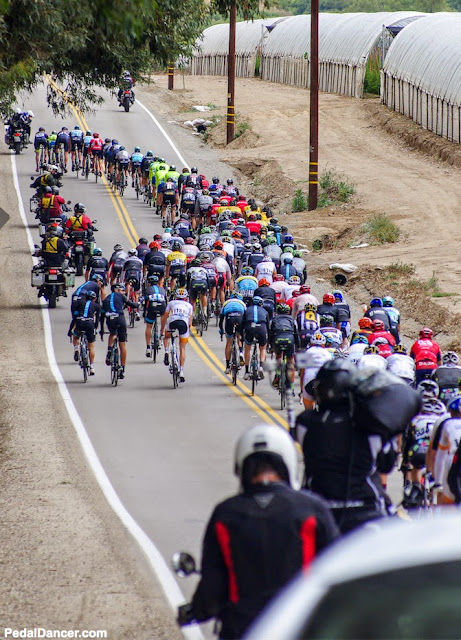 The peloton rides through Camarillo in 2015 ATOC