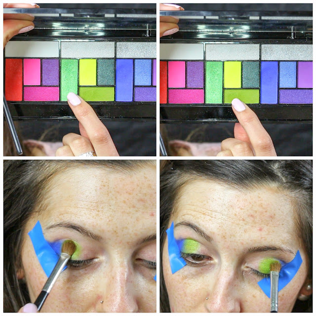 colourful makeup look pro palettee laurajanestyle