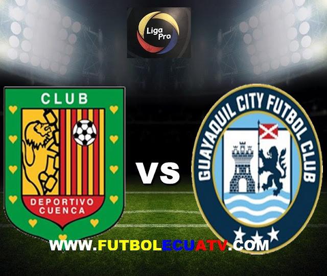 Deportivo Cuenca recibe a Guayaquil City en vivo desde las 20:00 horario local a disputarse en el campo Alejandro Serrano Aguilar prosiguiendo la fecha 10 del campeonato local, siendo el árbitro principal Juan Carlos Albarracín con emisión del canal autorizado GolTV.