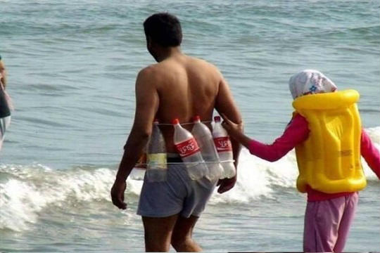 tamil funny pics, low cost swimming safety jacket pics, coca cola empty bottle safety jacket