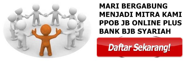 Pendaftaran Loket Baru PPOB JB Online Plus Bank BJB Syariah