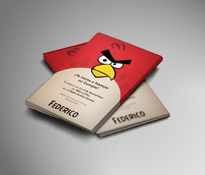 Angry Bird Wedding Invitation