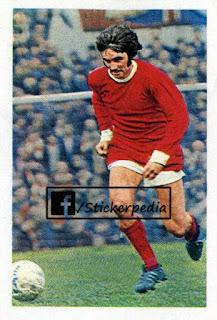 George Best Manchester United sticker FKS 1969 70