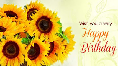 Birthday wise with Flower and message
