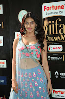 Amyra Dastur in Flower Print Choli Transparent Chunni at IIFA Utsavam Awards 32.JPG