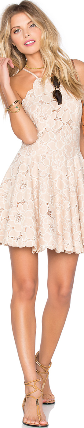 TULAROSA CYRUS DRESS PALE BLUSH