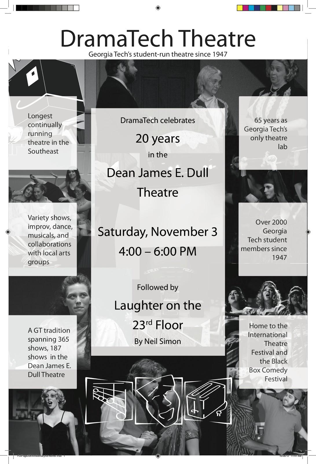 Dramatech Celebrates 20 Years In Dean James E Dull Theatre Lmc At Gatech