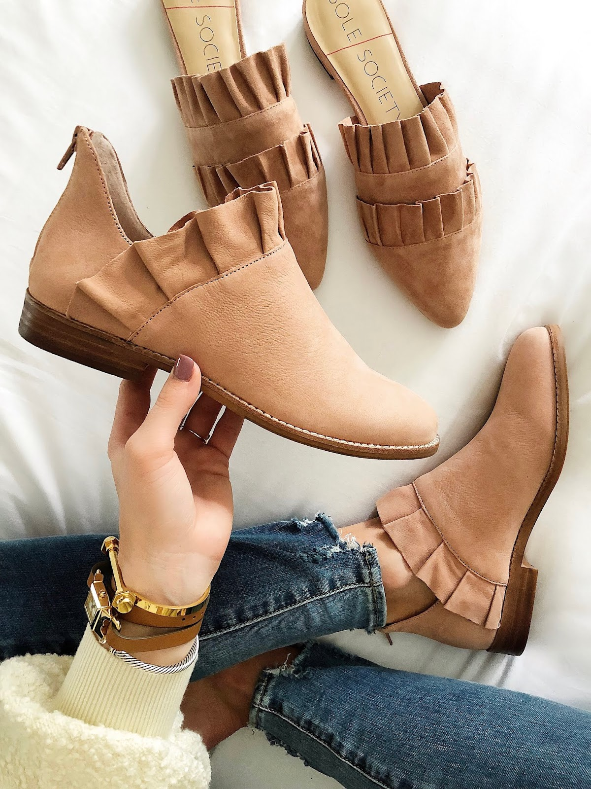 Ruffle Booties and Mules - Something Delightful Blog