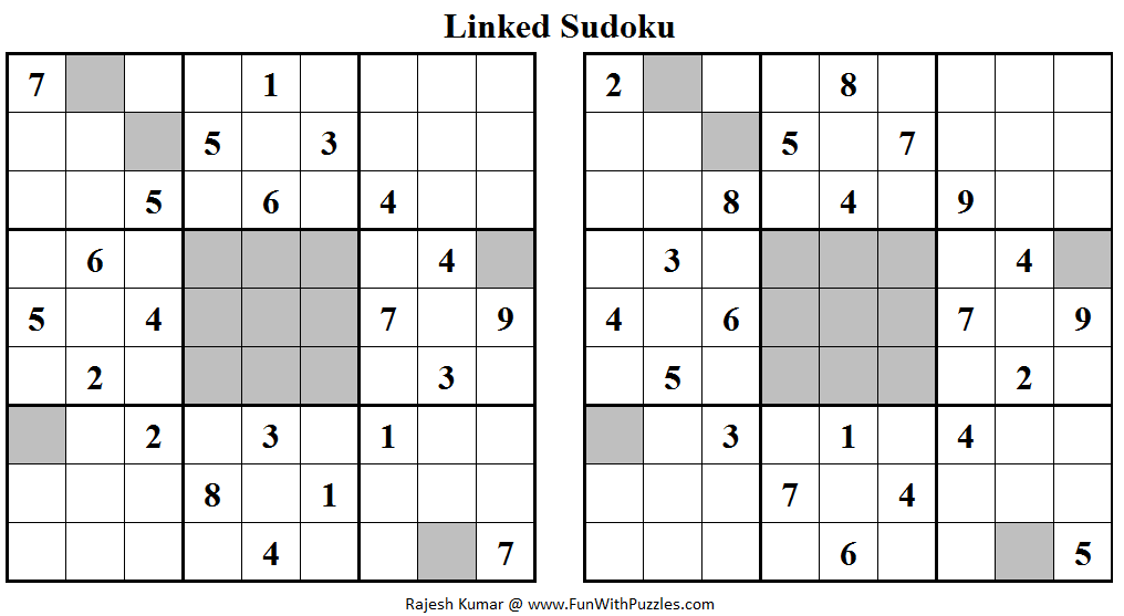 Linked Sudoku (Daily Sudoku League #108)