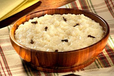 arroz doce com coco