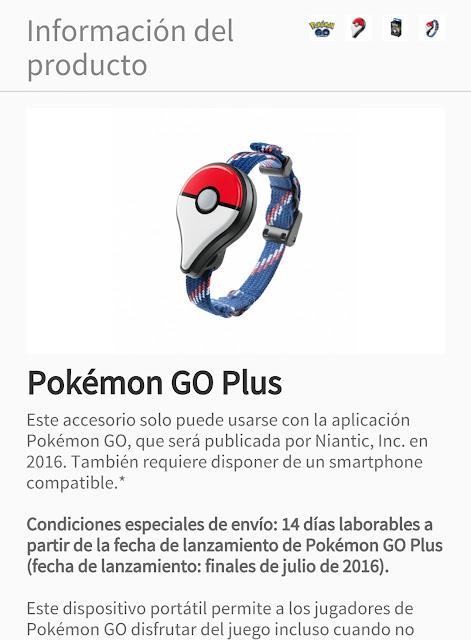 Ya se puede reservar Pokémon GO Plus y lista de compatibilidad de móviles 1