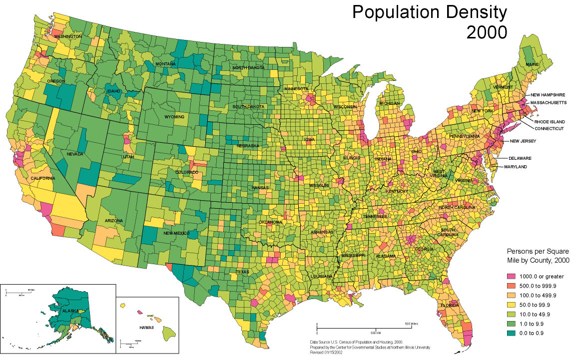 Steven L Anderson A Strategy To Evangelize The Entire World - Map of us population change 2000