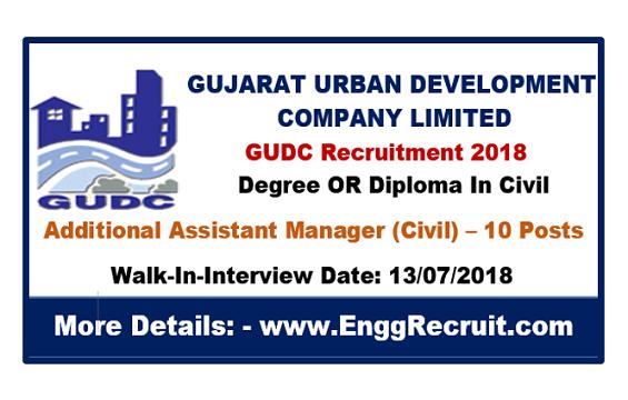 GUDC Recruitment 2018