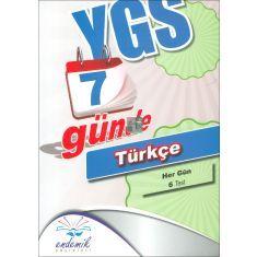 Endemik YGS 7 Günde Türkçe (2016)