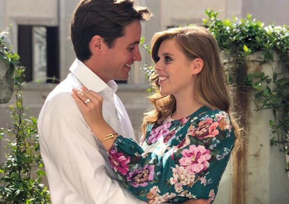 The wedding of Princess Beatrice and Edoardo Mapelli Mozzi will take place on Friday 29 May. Zimmermann Allia floral linen midi dress