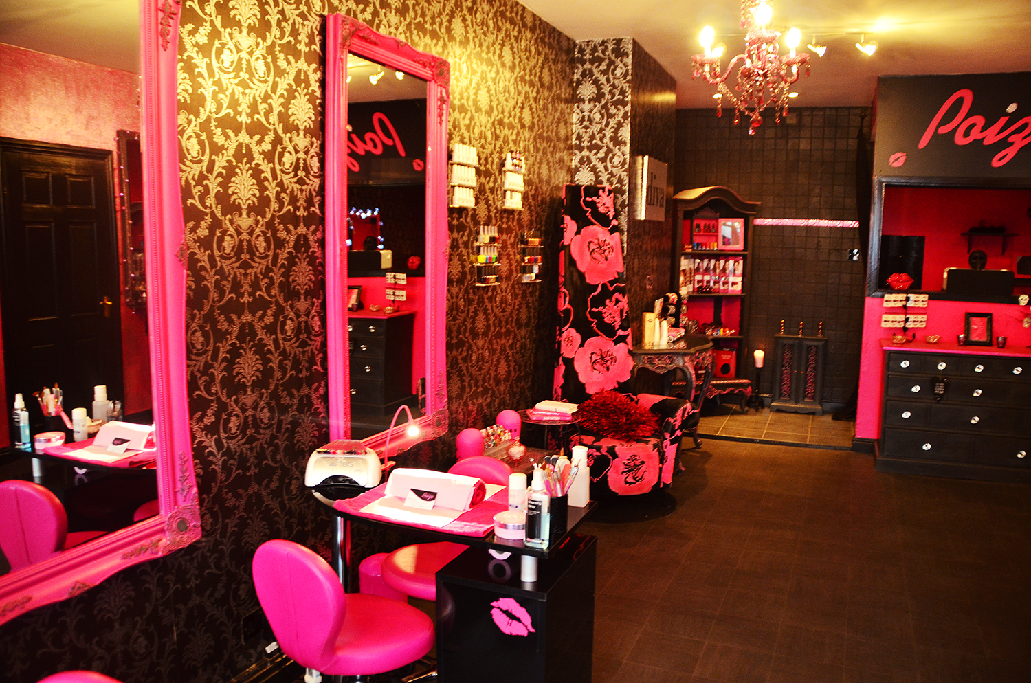 pink salon chairs wooden kitchen with arms nail furniture joy studio design gallery best