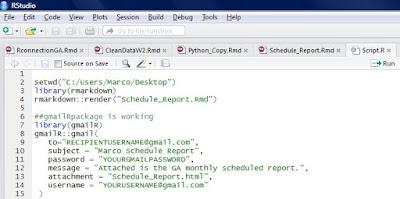 R script scheduling reports