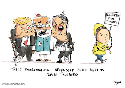 Green Humour: Greta Meets Trump, Bolsonaro and Modi