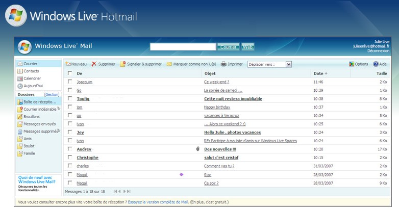 De reception sign in hotmail fr boite Free email