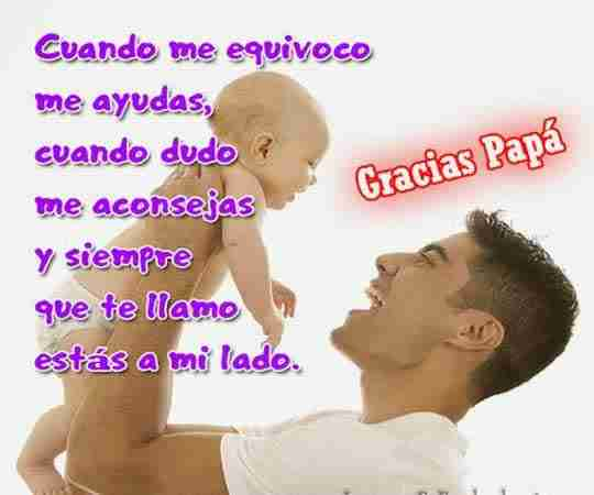 Textos lindos de cumpleaños de un hijo `para felicitar a papá