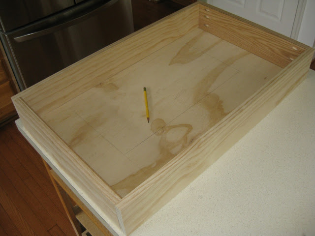 plywood and pine for the lower part of the hood.