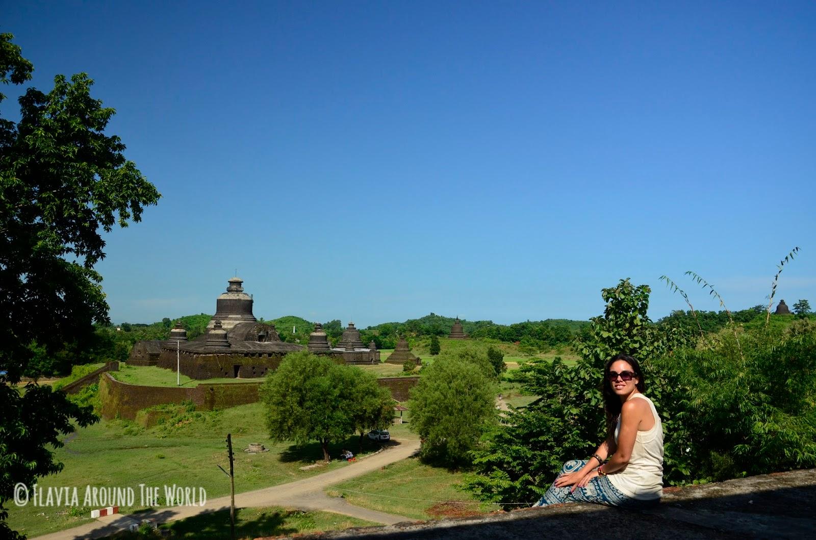 Vistas desde el templo de Shitthaung, Mrauk U, Myanmar