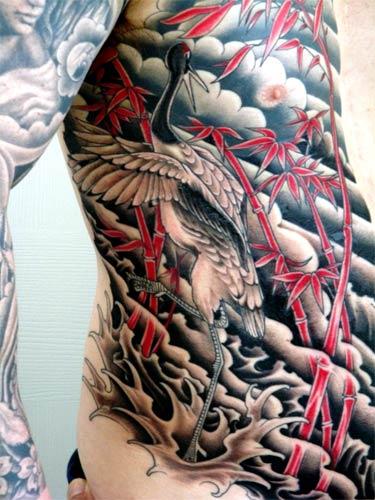 crane tattoo